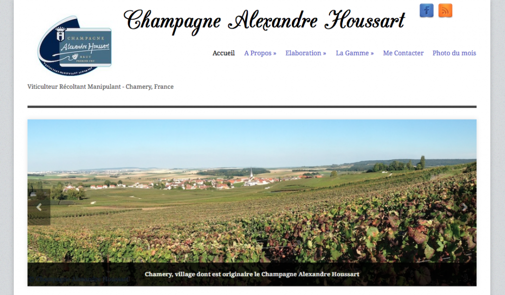 Champagne Alexandre Houssart frontpage